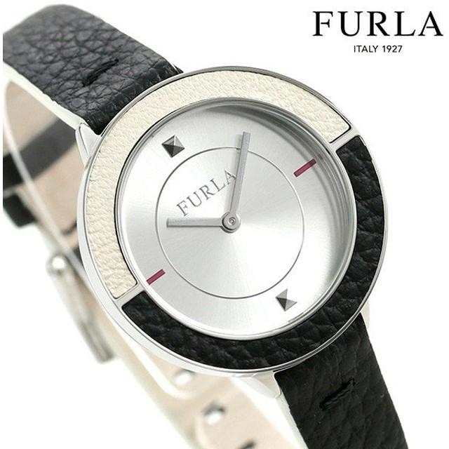 フルラ 時計 クラブ 34mm レディース 腕時計 4251109504 FURLA シルバー×ブラック 革ベルト