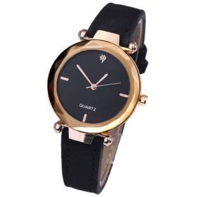 6c361d7bd0 時計 - LUPIS ブラックダイヤルマットレザーベルトウォッチ・腕時計【アクセサリー アクセ レディース 女性