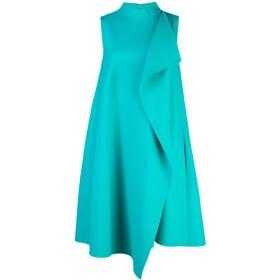 Oscar de la Renta アシンメトリー ラップフロント ドレス - ブルー
