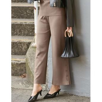 パンツ・ズボン全般 - Re: EDIT 大人顔に仕上げたトレンドライクなリブニットパンツ サイドボタンストレートリブニットパンツ ボトムス/パンツ/フルレングス