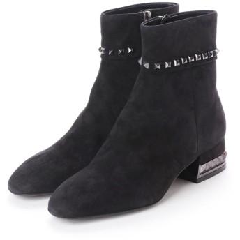 ヌエール nouer BRUNOPREMI スタッズスウェードショートブーツ (ブラック)