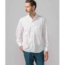 トゥモローランド 100/2コットンポプリン カッタウェイカラーシャツ メンズ 11ホワイト M 【TOMORROWLAND】