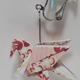 折り紙イヤリング(ペガサス)