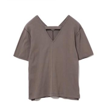 RBS / センター シーム Vネック Tシャツ レディース Tシャツ GREY ONE SIZE