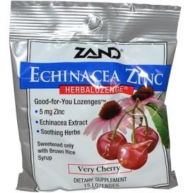 Echinacea Zinc、Herbalozenge、サクランボ風、トローチ15粒