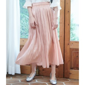 ロングスカート - ROPE' PICNIC 【WEB限定カラー:ネイビー】シャイニープリーツスカート