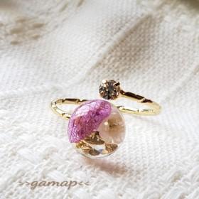 かすみ草と紫陽花のリング