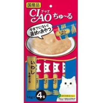 チャオ ちゅーる いわし&まぐろ(14g^4本入)(14g4本入)[猫のおやつ・サプリメント]