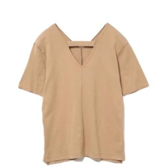 RBS / センター シーム Vネック Tシャツ レディース Tシャツ BEIGE ONE SIZE
