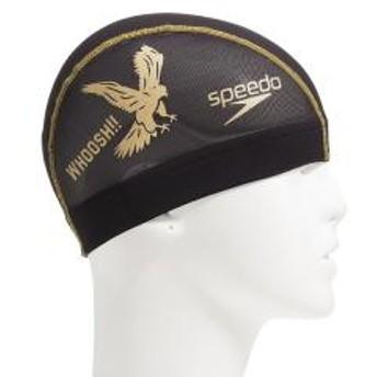 Speedo(スピード)スイミング キャップ FASTER MESH CAP SE11904 K メンズ K