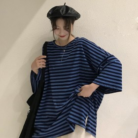 カットソー - G & L Style レディース 半袖 トップス カットソー シンプル カジュアル ロゴプリント 半袖Tシャツ 5703