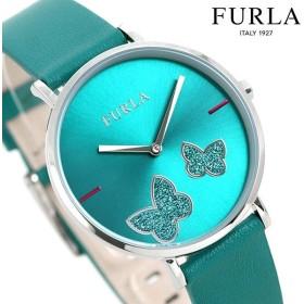 先着1,000円割引クーポン フルラ 時計 ジャーダ バタフライ 36mm レディース 腕時計 4251113508 FURLA グリーン 革ベルト