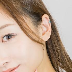 ボディピアス - アクセサリーショップPIENA ボディピアス レディース 14G ターコイズカラー ユニセックス サージカルステンレス316l 付けっぱなし 軟骨用耳たぶ用セカンドピアス ユニセックス ファーストピアス 1個売り