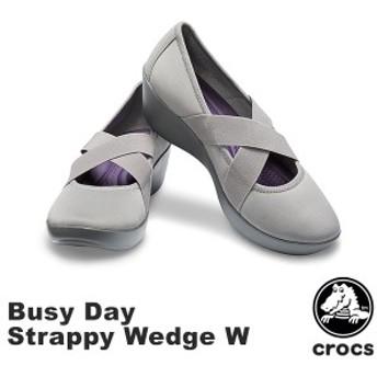 クロックス(CROCS) ビジーデイ ストラッピー ウェッジ ウィメン(busy day strappy wedge w ) /レディース シューズ[AA]