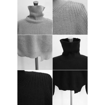 ニット・セーター - NOWiSTYLE NANING9(ナンニング)ぽってりリブ編みセーター韓国 韓国ファッション タートルネック セーター ハイネック ニット ゆったりトップス 冬 カジュアル リブ編み リブニット ルーズフィット ナンニング