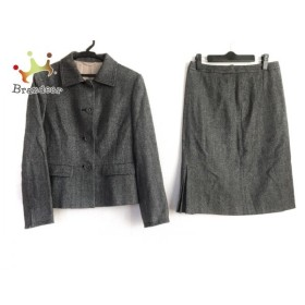 ノーリーズ スカートスーツ サイズ38 M レディース 美品 ダークグレー×ライトグレー×白   スペシャル特価 20190604