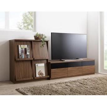 テレビボード+フラップチェスト セット / 2点セット(テレビボード+フラップチェスト)  140cm リビング 収納 木目調 ブラウン 茶 おしゃれ