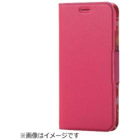 iPhone X用 手帳型 ソフトレザーカバー 薄型 女子向 磁石付 ピンク PM-A17XPLFUJPND