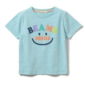 BEAMS mini / スマイルロゴTシャツ19S (90~120㎝) キッズ Tシャツ SAX 100