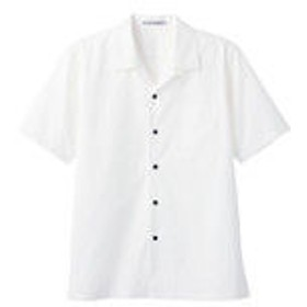 ボンマックス ブロードオープンカラー半袖シャツ ホワイト 5L FB4529U-15-5L (直送品)