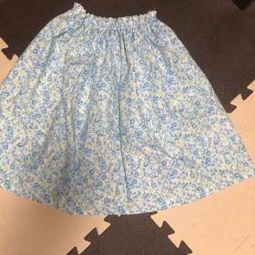 花柄 スカート 水色