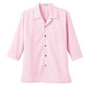 ボンマックス ブロードオープンカラー七分袖シャツ ピンク 5L FB4530U-9-5L (直送品)