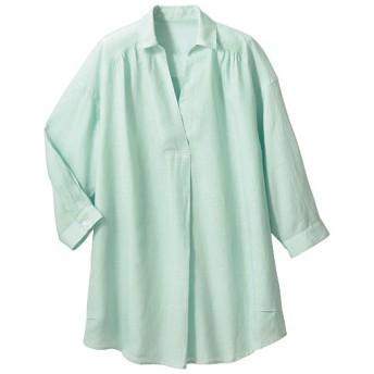 60%OFF【レディース】 テンセル混リネンスキッパーシャツ(接触冷感) ■カラー:ペパーミント ■サイズ:M,L