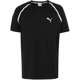 《セール開催中》PUMA メンズ T シャツ ブラック S コットン 100% Epoch Raglan Tee Cotton