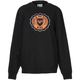 《期間限定 セール開催中》FRANKLIN & MARSHALL メンズ スウェットシャツ ブラック M コットン 100%