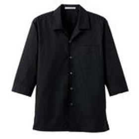 ボンマックス ブロードオープンカラー七分袖シャツ ブラック S FB4530U-16-S (直送品)