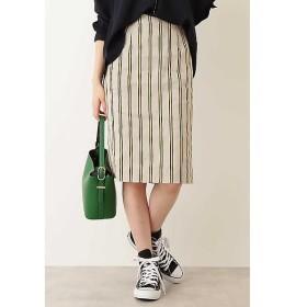 N.Natural Beauty Basic / エヌ ナチュラルビューティーベーシック 麻ストライプタイトスカート