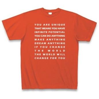 ◆ポエム系◆文字◆ロゴ◆メッセージ◆半袖◆Tシャツ◆イタリアンレッド◆各サイズ選択可