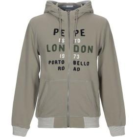 《セール開催中》PEPE JEANS メンズ スウェットシャツ ミリタリーグリーン XS コットン 99% / ポリウレタン 1%