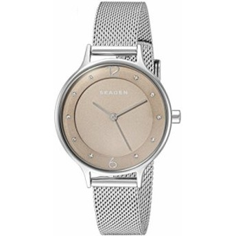【当店1年保証】スカーゲンSkagen Women's Anita Analog-Quartz Watch with Stainless-Steel Strap, Si