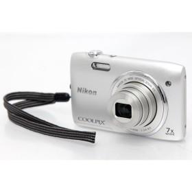 ニコン COOLPIX S3400 シルバー コンパクトデジタルカメラ 【E145】