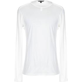 《期間限定セール開催中!》JOHN VARVATOS メンズ T シャツ ホワイト M ピマコットン 100%