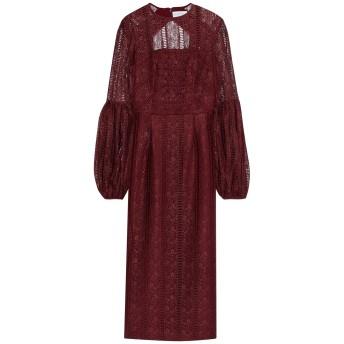 《セール開催中》REBECCA VALLANCE レディース 7分丈ワンピース・ドレス ボルドー 12 ポリエステル 100%