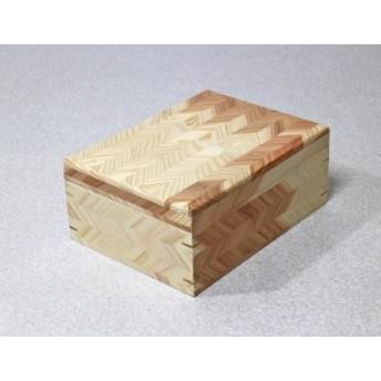 杉 矢羽 矢羽根の小物入れ 22×29.5×高さ12cm(浅型) 木箱 蓋つき 収納ボックス ボックス おしゃれ
