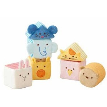 ふわふわトーイ ふわふわアニマルブロック 【エド・インター 赤ちゃん おもちゃ 布製玩具 知育玩具 ベビートイ】