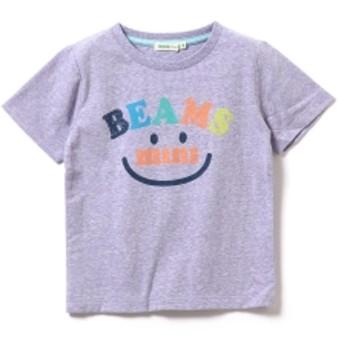 BEAMS mini / スマイルロゴTシャツ19S (90~120㎝) キッズ Tシャツ PURPLE 100