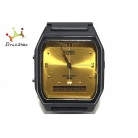 カシオ CASIO 腕時計 AW-48H ボーイズ ラバーベルト ゴールド   スペシャル特価 20190629