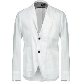 《セール開催中》C.P. COMPANY メンズ テーラードジャケット ホワイト 50 麻 50% / ナイロン 50%