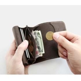 bb3e0d641155 小銭入れ ミニ財布 メンズ カード収納 レザー メンズ サイフ ウォレット 小銭 お札 コインケース 本