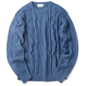 [マルイ]【セール】SHIPS JET BLUE: 《洗える》 スプリング アランニット/シップス ジェットブルー(SHIPS JET BLUE)
