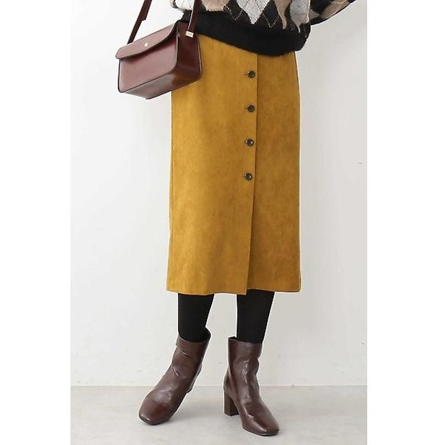 N.Natural Beauty Basic / エヌ ナチュラルビューティーベーシック フェイクスウェードタイトスカート