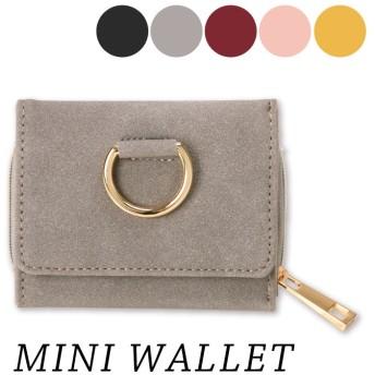 ミニ財布 ミニウォレット 折りたたみ財布 レディース 小さい財布 ウォレット コンパクト財布 メタル ゴールド スエード ファスナー カード入れ 軽量 コンパクト シンプル サイフ さいふ プレゼント