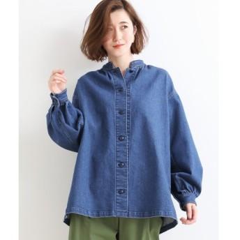 NIMES / ニーム 10ozデニム スタンドカラーシャツ