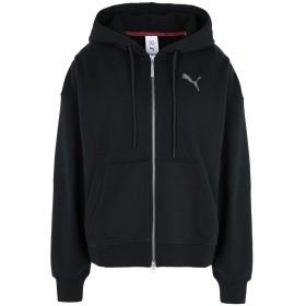 《期間限定 セール開催中》PUMA レディース スウェットシャツ ブラック XS コットン 79% / ポリエステル 21% SG X PUMA FZ