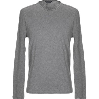 《セール開催中》JOHN VARVATOS メンズ T シャツ グレー S ピマコットン 100%