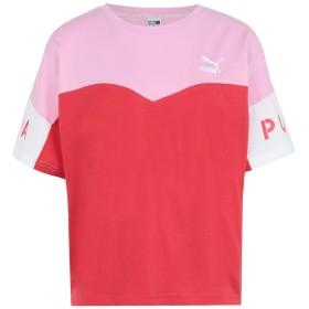 《セール開催中》PUMA レディース T シャツ ピンク XS コットン 100% PUMA XTG Colorblock Tee